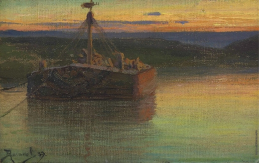 Поленов В. Д. Паром на закате