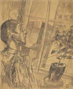 Петров-Водкин К. С. Молодой человек, смотрящий в окно