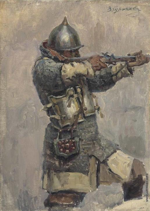 Суриков В. И. Этюд для картины «Покорение Сибири Ермаком»