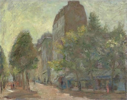 Фальк Р. Р. Улица в Париже