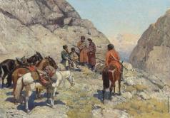 Рубо Ф. А. Встреча на Кавказе