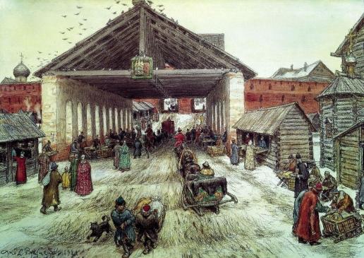 Васнецов А. М. Воскресенский мост в XVII веке