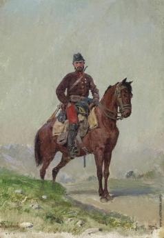 Поленов В. Д. Всадник из отряда генерала Черняева