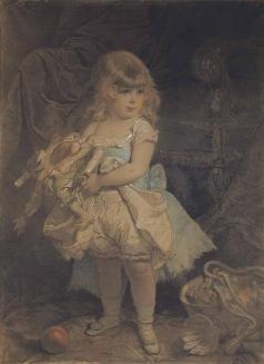 Зичи М. А. Девочка с куклой