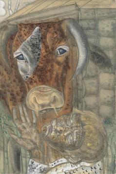 Григорьев Б. Д. Крестьянский мальчик и корова