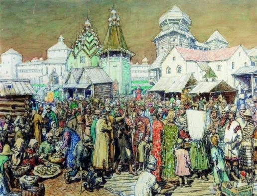 Васнецов А. М. Городская площадь XVII века