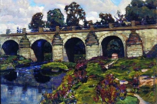 Васнецов А. М. Дворцовый мост XVIII века через реку Яузу. Лефортово
