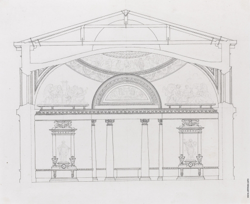 Кваренги Д. Эскиз для Александровского дворца
