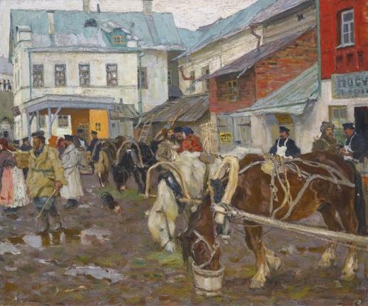 Лаховский А. Б. Базарный день. (Провинциальный рынок)