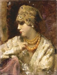 Исупов А. В. Портрет женщины в русском костюме