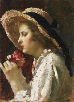 Исупов А. В. Девушка с цветами