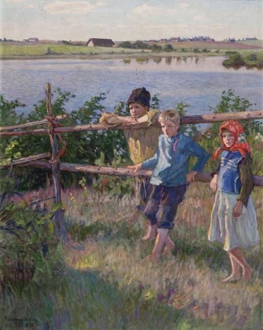 Богданов-Бельский Н. П. Дети у озера