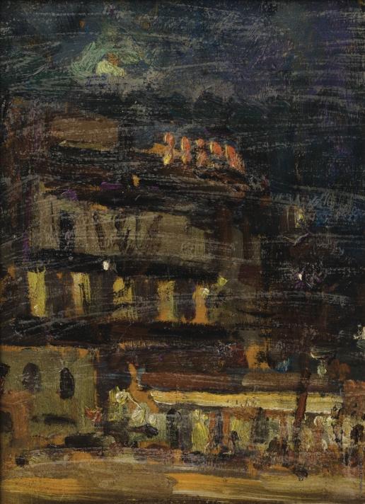Коровин К. А. Ночной Париж