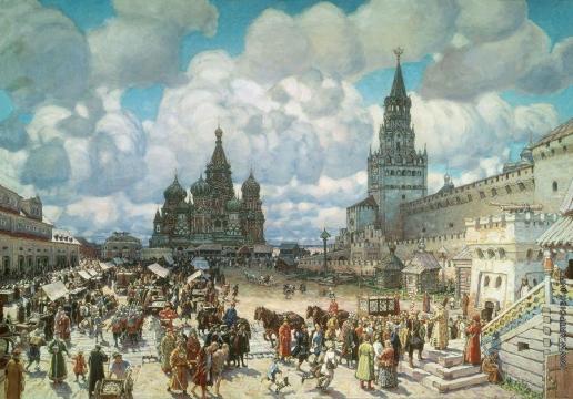 Васнецов А. М. Красная площадь во второй половине XVII века