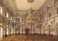 Ухтомский К. А. Виды залов Зимнего дворца. Концертный зал