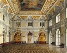 Ухтомский К. А. Виды залов Зимнего дворца. Аванзал