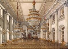 Ухтомский К. А. Виды залов Зимнего дворца. Николаевский зал