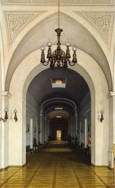 Ухтомский К. А. Виды залов Зимнего дворца. Темный коридор