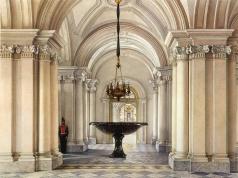 Ухтомский К. А. Виды залов Зимнего дворца. Парадный вестибюль