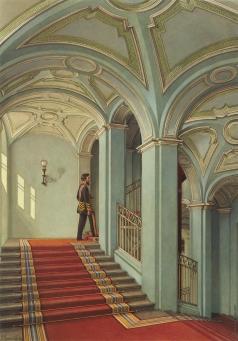 Ухтомский К. А. Виды залов Зимнего дворца. Салтыковская лестница