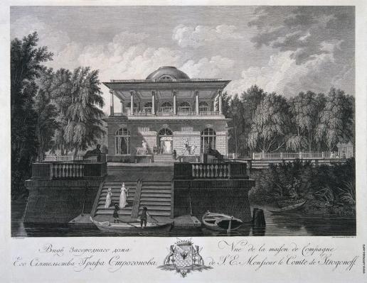 Ческий И. В. Загородный дом графа Строганова на Каменном острове