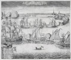 Зубов А. Ф. Торжественный ввод четырех фрегатов 8 сентября 1720 года в Петербург после победы при Гренгаме