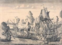 Зубов А. Ф. Сражение у мыса Гангут 27 июля 1714 года