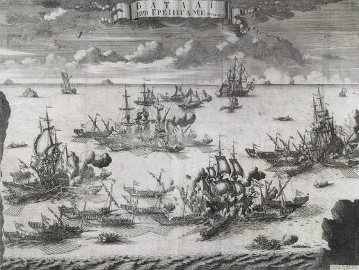 Зубов А. Ф. Сражение при Гренгаме 27 июля 1720 года