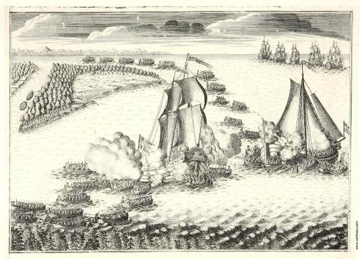 Зубов А. Ф. Взятие русскими войсками двух шведских судов в устье Невы 7 мая 1703 года