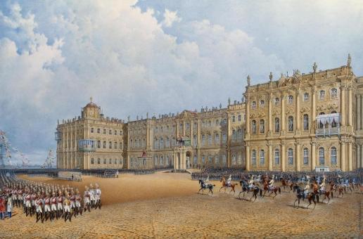 Садовников В. С. Вид Зимнего дворца со стороны Адмиралтейства