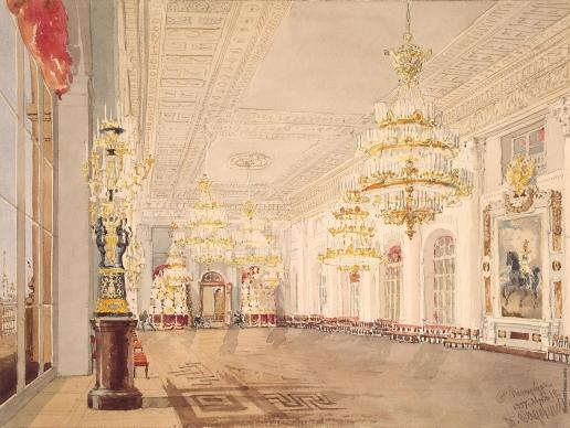 Садовников В. С. Николаевский зал (эскиз)