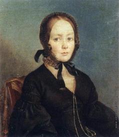 Багаев А. А. Портрет молодой женщины в черном платье. (Портрет А. И. Бегичевой?)