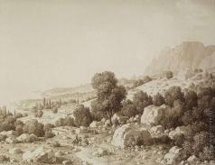 Кюгельген К. Вид на долину близ селения Матка