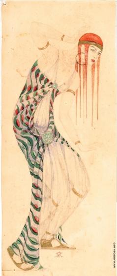 Федоровский Ф. Ф. Эскиз женского костюма к опере «Саломея»