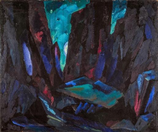 Федоровский Ф. Ф. В горах. Эскиз декорации к опере Ж. Бизе «Кармен»