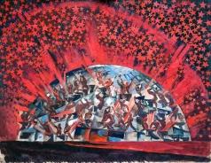 Федоровский Ф. Ф. Музыкальный спектакль к 10-й годовщине Октябрьской революции. Эскиз декорации