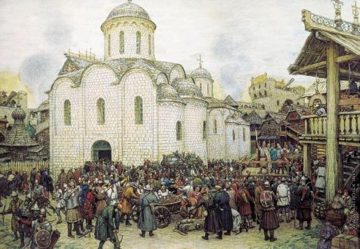 Васнецов А. М. Оборона Москвы от хана Тохтамыша. XIV век