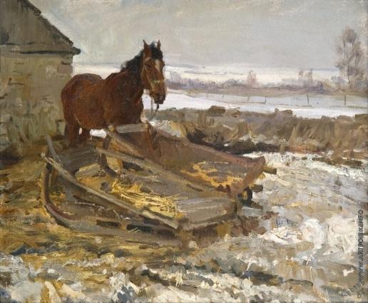 Кротов Ю. Деревенская лошадь