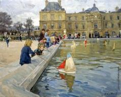 Кротов Ю. Дети с корабликами в люксембургском саду