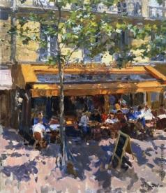 Кротов Ю. Вид на парижское кафе из окна гостиницы