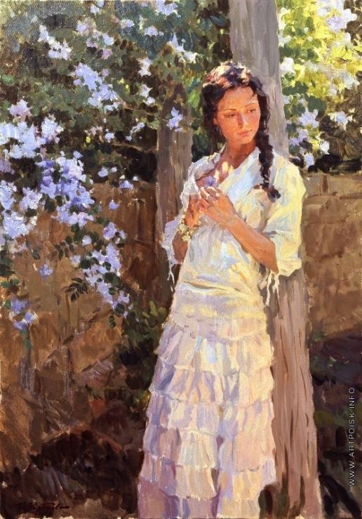 Кротов Ю. Романтическое настроение в цветущем саду