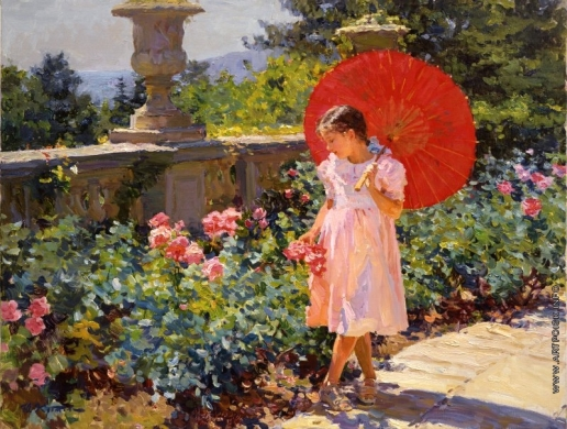 Кротов Ю. Девочка с красным зонтом