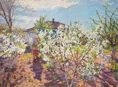 Кротов Ю. Мама в весеннем саду