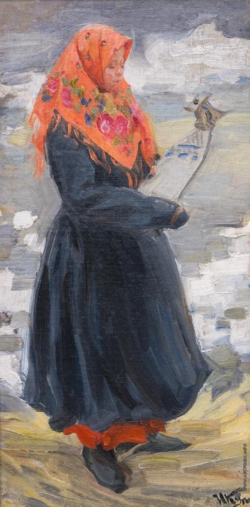 Куликов И. С. Девушка в красном платке