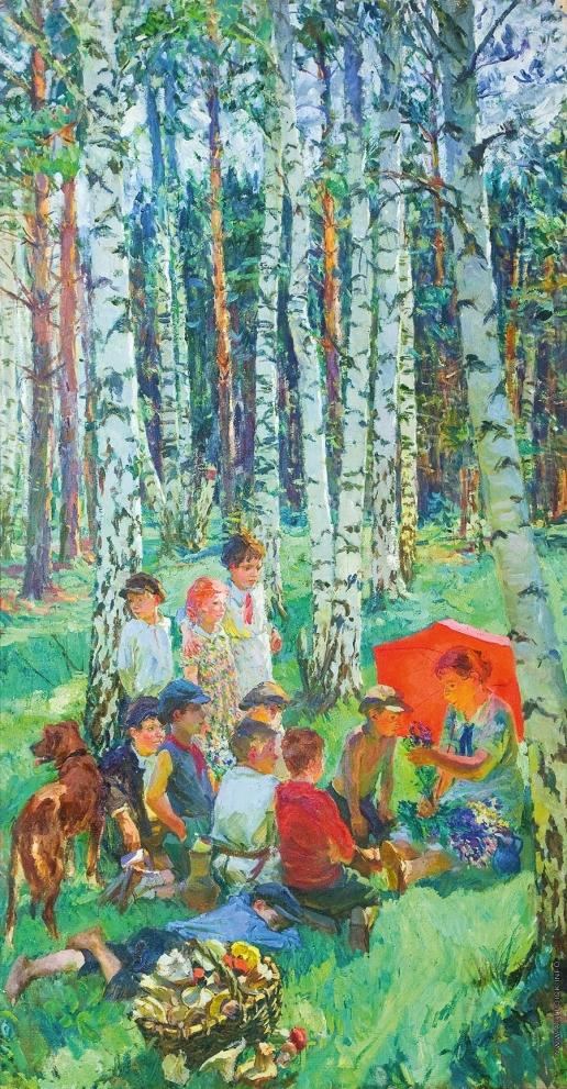 Пластов А. А. Урок в лесу