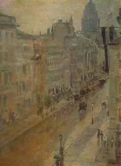 Остроухов И. С. Улица в Берлине. Дождь