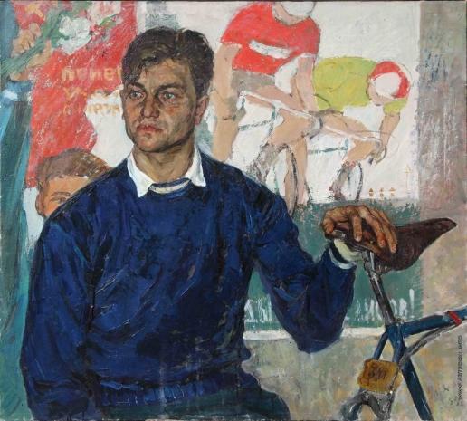 Ульянов В. А. Велосипедист. Мастер спорта В.В. Голованов
