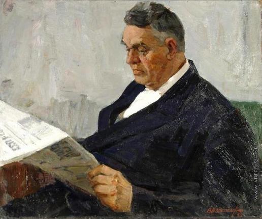 Непостаев В. К. Портрет старого большевика В.Г. Гусева