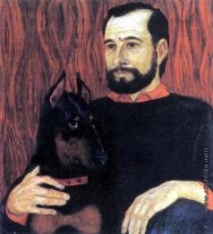 Тальберг Б. А. Автопортрет с собакой