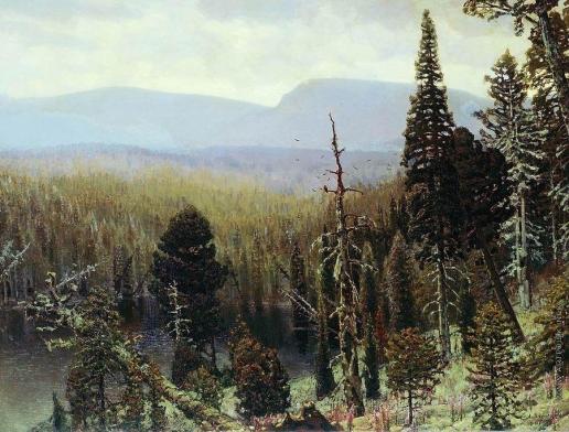 Васнецов А. М. Тайга на Урале. Синяя гора